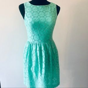 Kenzie Eyelet Lace Mini Dress 👗 Mint Green Size S